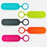 Färgrika informationsdiagram om vektor Arkivbilder