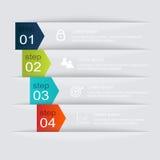 Färgrika informationsdiagram om vektor för dina affärspresentationer Royaltyfria Bilder