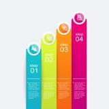 Färgrika informationsdiagram om vektor för dina affärspresentationer Royaltyfri Fotografi