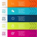 Färgrika informationsdiagram om vektor för dina affärspresentationer Arkivfoto