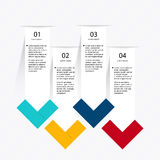 Färgrika informationsdiagram om vektor för dina affärspresentationer Royaltyfri Bild
