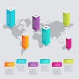 Färgrika informationsdiagram om vektor för dina affärspresentationer Fotografering för Bildbyråer