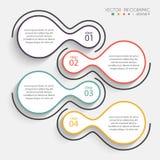 Färgrika informationsdiagram om vektor för dina affärspresentationer Royaltyfri Foto