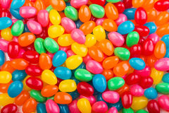 Färgrika jellybeans Arkivfoto
