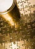 färgrika jigsaws royaltyfria bilder