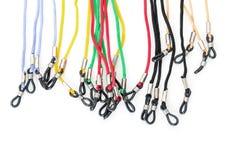 Färgrika kablar med öglor för glasögon Royaltyfri Bild