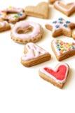 färgrika kakor för jul Arkivfoton