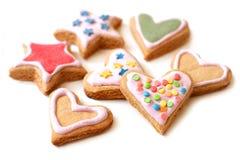 Färgrika kakor för julcloseup Arkivbilder