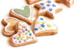Färgrika kakor för julcloseup Royaltyfria Foton