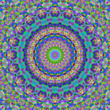 färgrika kaleidoscopefyrkanter Royaltyfri Bild
