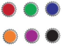 färgrika kapsyler Arkivfoto