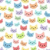 Färgrika katter för tecknad film Fotografering för Bildbyråer