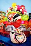 Färgrika kinesiska lyktor på en festival i Xian Royaltyfri Fotografi