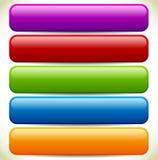 Färgrika knapp-/banerbakgrunder med glansig effekt och Empt Arkivbild