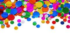 färgrika konfettiar Arkivfoton
