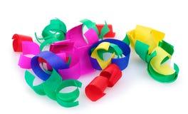 färgrika konfettiar Arkivfoto