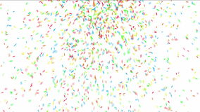 färgrika konfettiar lager videofilmer