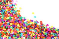 färgrika konfettiar Fotografering för Bildbyråer