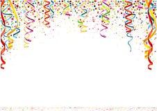 färgrika konfettiar för bakgrund Arkivfoton