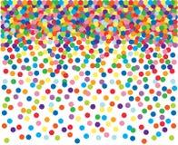 färgrika konfettiar för bakgrund Arkivbild