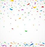 Färgrika konfettier på vit bakgrund Vektor Illustrationer