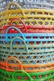 färgrika korgar Royaltyfri Fotografi
