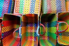färgrika korgar Fotografering för Bildbyråer