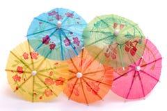 färgrika kräm- isparaplyer Royaltyfria Foton