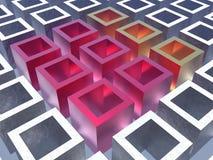 färgrika kuber Arkivbilder