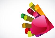 färgrika kuber 3d Royaltyfri Fotografi