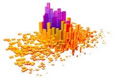 Färgrika kuber 3D och former Royaltyfria Foton
