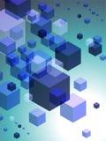 färgrika kuber för abstrakt bakgrund 3d Royaltyfri Bild