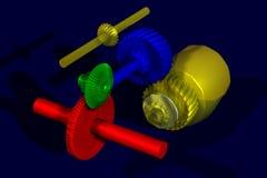 färgrika kugghjul Royaltyfri Fotografi