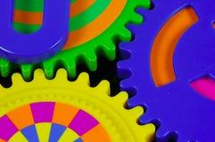 färgrika kugghjul royaltyfri illustrationer