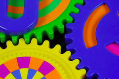 färgrika kugghjul Arkivbilder