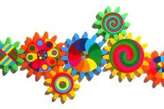 färgrika kugghjul Royaltyfri Foto
