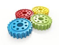 färgrika kugghjul Arkivbild
