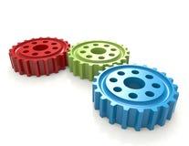 färgrika kugghjul Fotografering för Bildbyråer