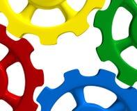 Färgrika kugghjulhjul Arkivfoto