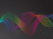 färgrika kurvlinjer stock illustrationer