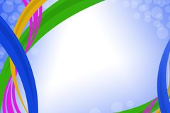 färgrika kurvlinjer, abstrakt bakgrund Arkivbild