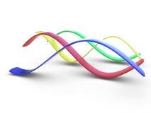 färgrika kurvor 3d royaltyfri illustrationer