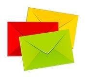 färgrika kuvert royaltyfri illustrationer