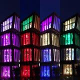 Färgrika kvarter av ljus Royaltyfri Foto