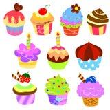 Färgrika läckra cakes Fotografering för Bildbyråer