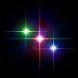 Färgrika lampor vektor illustrationer