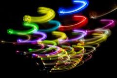 färgrika lampor Arkivfoton
