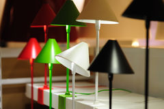 färgrika lampor Arkivfoto