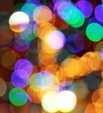 färgrika lampor för abstrakt bakgrund Arkivfoton