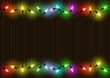 färgrika lampor för bakgrundsjul stock illustrationer